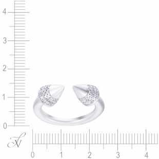 Кольцо из серебра 925 пробы с фианитами (17,5)