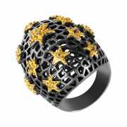 Кольцо из серебра 925 пробы с сапфирами (16,75)...