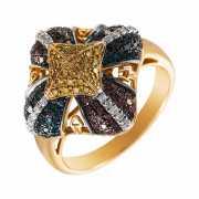Кольцо из золота 585 пробы с бриллиантами (17,25)...