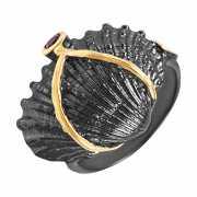 Кольцо из серебра 925 пробы с турмалинами (18)...