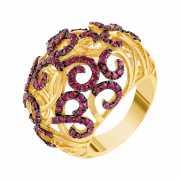 Кольцо из золота 585 пробы с рубинами (17,5)...