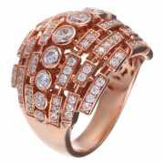 Кольцо из серебра 925 пробы с фианитами (17)...
