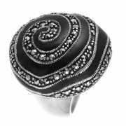Кольцо из серебра 925 пробы с эмалью и фианитами (16)...