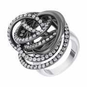 Кольцо из черного золота 750 пробы с бриллиантами (17)...