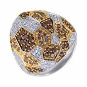 Кольцо из белого золота 585 пробы с бриллиантами (18)...