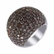 Кольцо из белого золота 750 пробы с бриллиантами (17)...