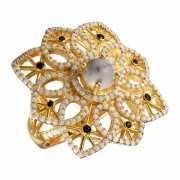 Кольцо из серебра 925 пробы с говлитами и фианитами (17)...