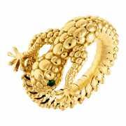 Кольцо из золота 585 пробы с цаворитами (17)...
