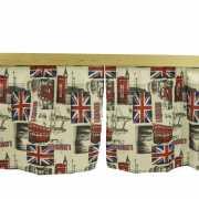 Комплект штор на 1 кровать с принтом Лондон...