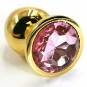 Маленькая алюминиевая анальная пробка Kanikule Small с крист...