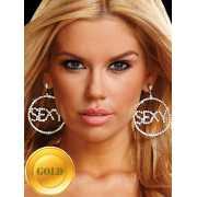 Большие круглые серьги Ann Devine с надписью Sexy – золотой...