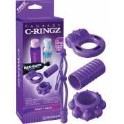 Набор эрекционных колец Party Pack – фиолетовый...