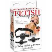 Система кляпов из 3-х шариков Ball Gag Training System – чер...