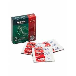 Презервативы Sitabella Light с возбуждающим эффектом точечные- 3 шт