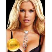 Галстук из кристаллов Ann Devine - Sexy Rhinestone Tie – зол...