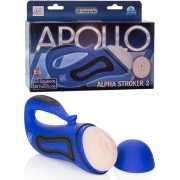 Мастурбатор вагина Alpha Stroker 2 с вибрацией – голубой...