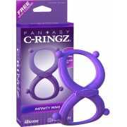 Эрекционное кольцо Infinity Ring на пенис и мошонку – фиолет...