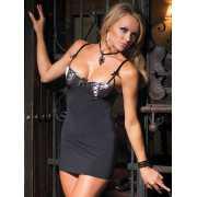Стильное черное платье с поддерживающим лифом на косточках C...