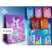 Бумажный подарочный пакет Tukzar  26 x 19 x 9 см - в ассорти...