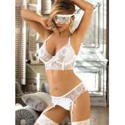 Комплект сексуального белья для невесты Vikki - L/XL...