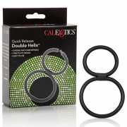 Двойное эрекционное кольцо Quick Release Double Helix – черн...