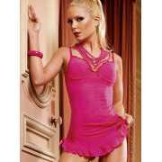 Платье-рубашка в мелкую сетку Lets Play – розовое...