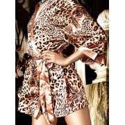 Атласное кимоно Beauty Inside The Beast – леопардовый...