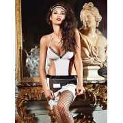 Эротический костюм Служанка Кэти – бело-черный...