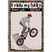 """Блокнот """"I ride my bike. В шлеме"""", 160 стр...."""