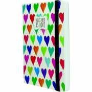 """Блокнот """"Hearts"""", 80 листов, в линейку..."""