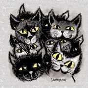 """Скетчбук """"Черные коты. Графика"""", 80 листов, 100 г/..."""