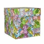 """Подарочная коробка """"Цветные единороги"""", 19 х 19 х ..."""