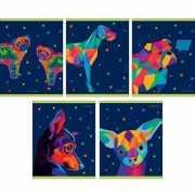 """Тетрадь """"Голография. Собаки"""" А5, 48 листов, в клет..."""