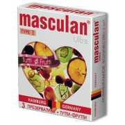 Жёлтые презервативы Masculan Ultra Tutti-Frutti с фруктовым ...