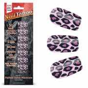 Набор лаковых полосок для ногтей Фиолетовый леопард Nail Foi...
