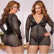 Обтягивающее платье увеличенного размера из крупной сетки с ...