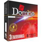 Ароматизированные презервативы Domino  Земляника  - 3 шт....