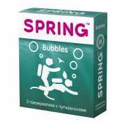 Презервативы SPRING BUBBLES с пупырышками - 3 шт....